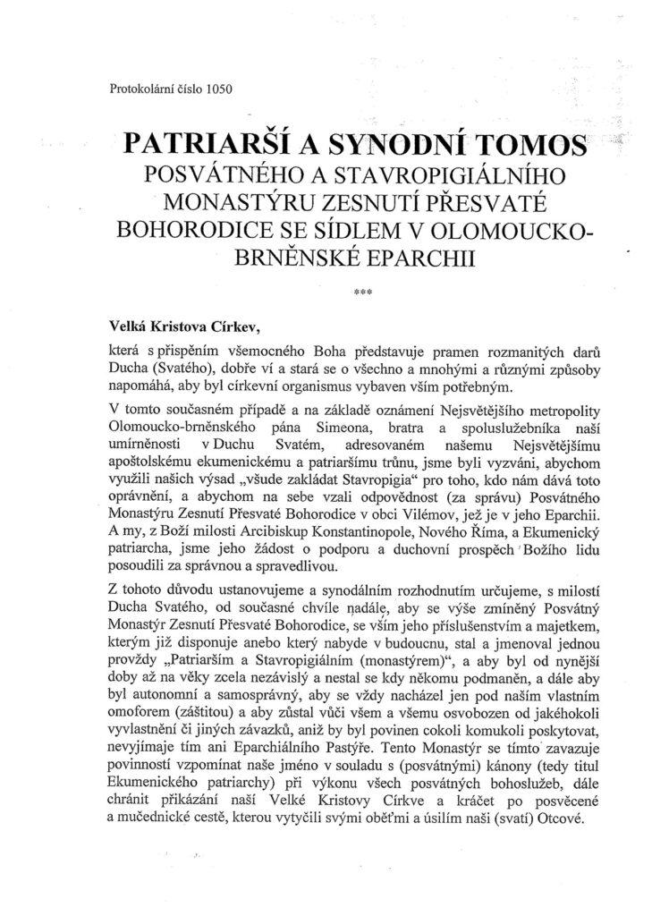 PATRIARSI-A-SYNODNI-TOMOS-1
